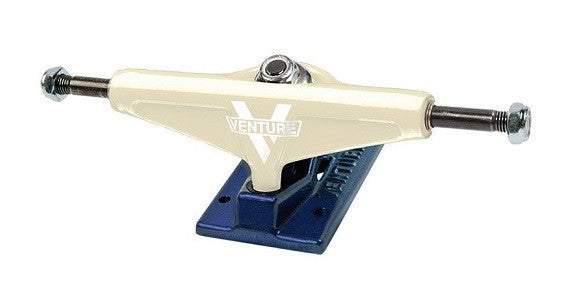 Venture Siege High - Cream/Navy - 5.25 - Skateboard Trucks (Set of 2)