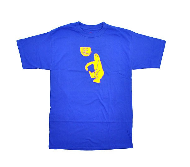 Krooked Get it Str8 S/S - Royal Blue/Yellow - Men's T-Shirt
