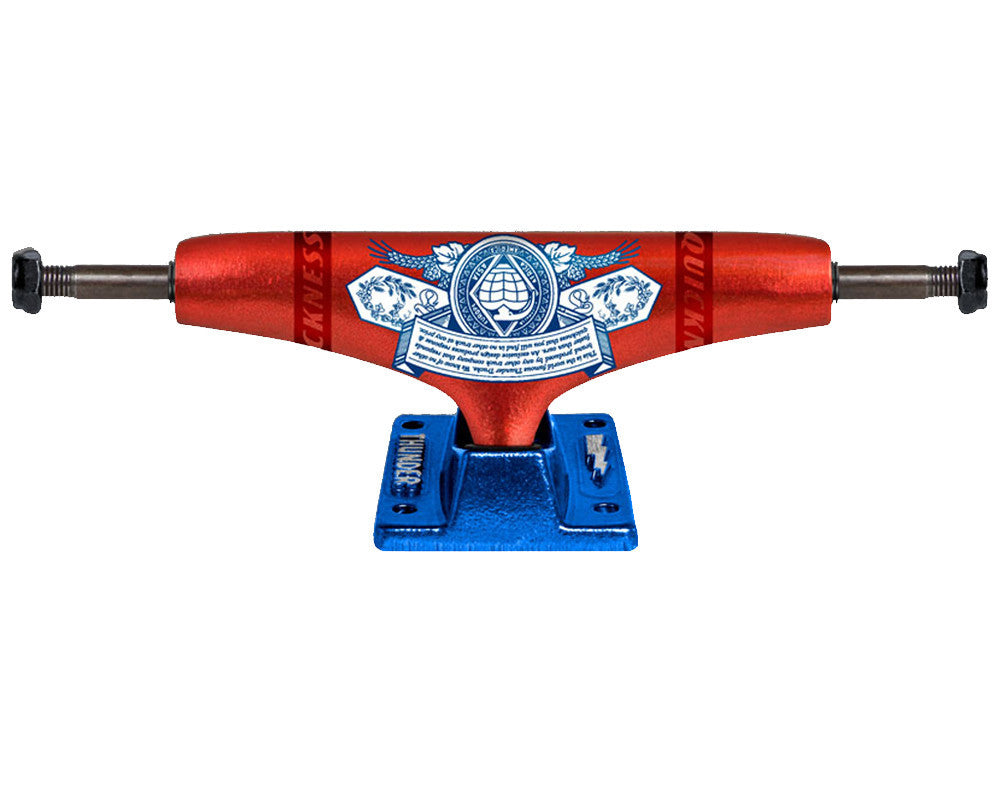 Thunder King Of Trucks II Low Skateboard Trucks - 145mm - Red/Blue (Set of 2)