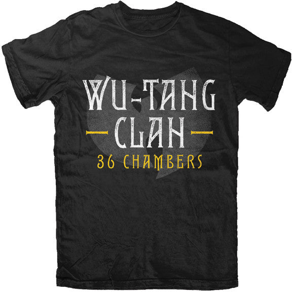Wu-Tang Band 36 Chambers T-Shirt - Black