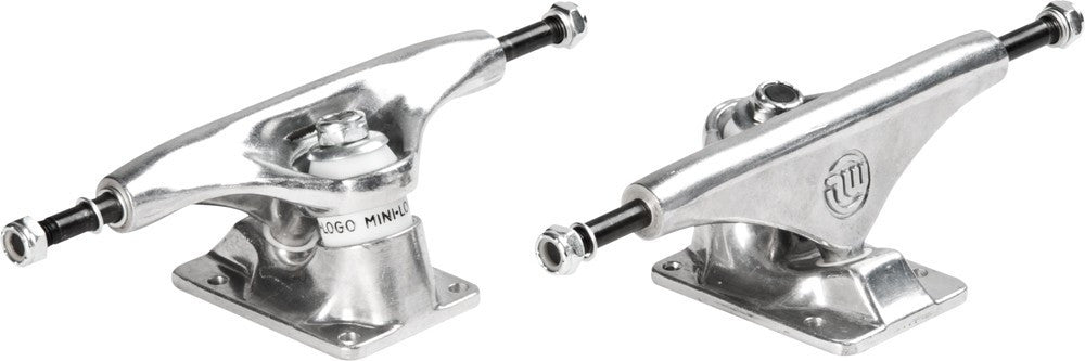 Mini Logo Rough Polished Skateboard Trucks - 8.0 - Silver/Silver (Set of 2)