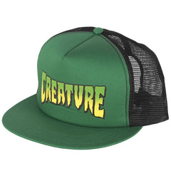 Creature Logo Men's Trucker Hat- Forest/Black