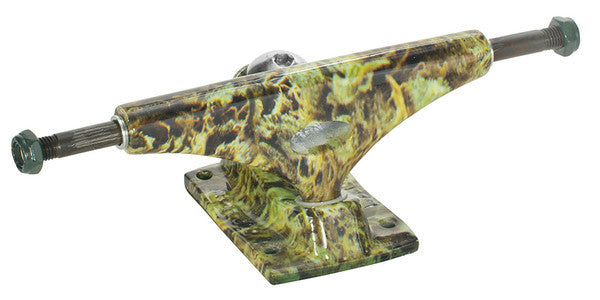Krux 4.0 Sandoval Hollow Forged Downlow Skateboard Trucks - 5.35 - Green/Green (Set of 2)