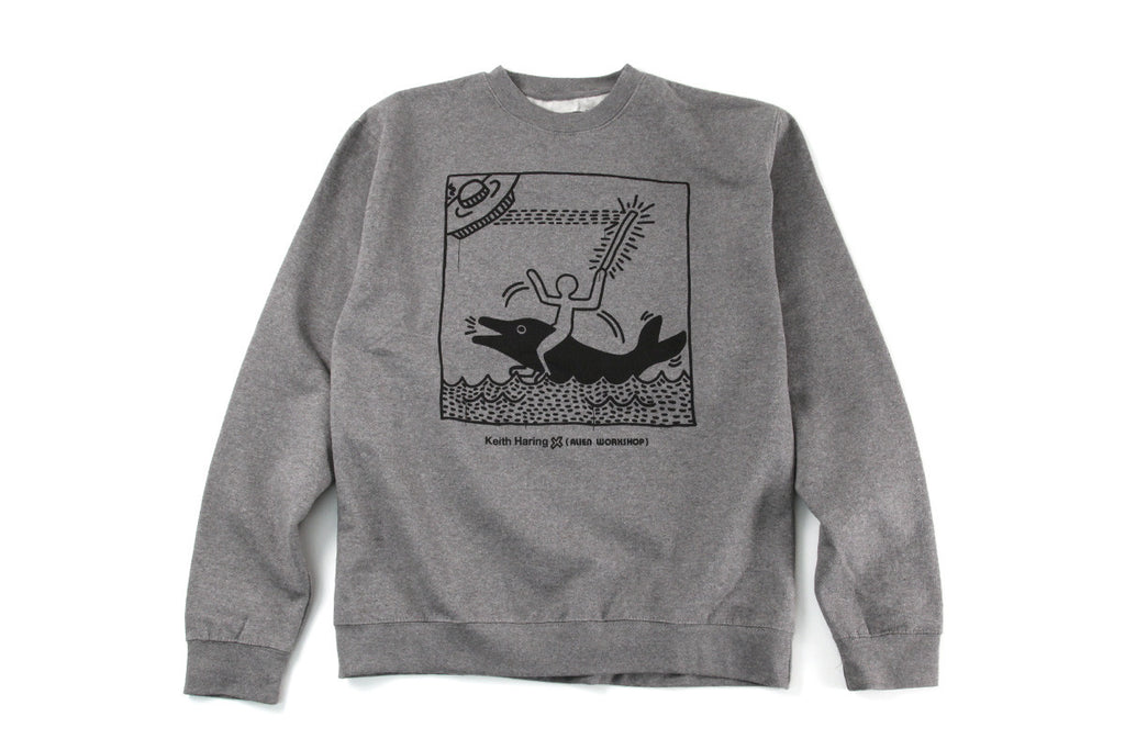 Alien Workshop UFO Dolphin Men's Sweatshirt - Heather Grey