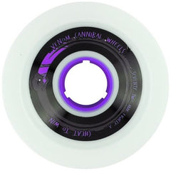 Venom Cannibal Purple Core - White - 72mm 76a - Skateboard Wheels (Set of 4)