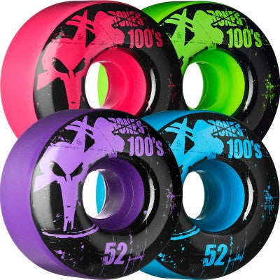 Bones O.G. 100's Skateboard Wheels - 52mm - Assorted (Set of 4)