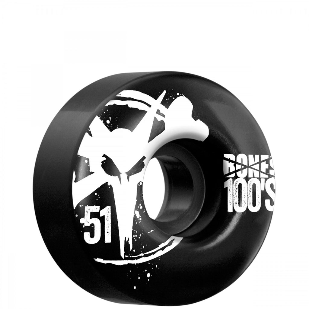 Bones O.G. 100's Skateboard Wheels 51mm - Black (Set of 4)