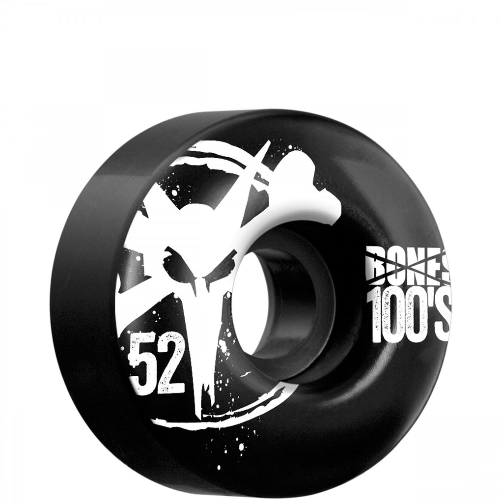 Bones O.G. 100's V4 - Black - 52mm - Skateboard Wheels (Set of 4)