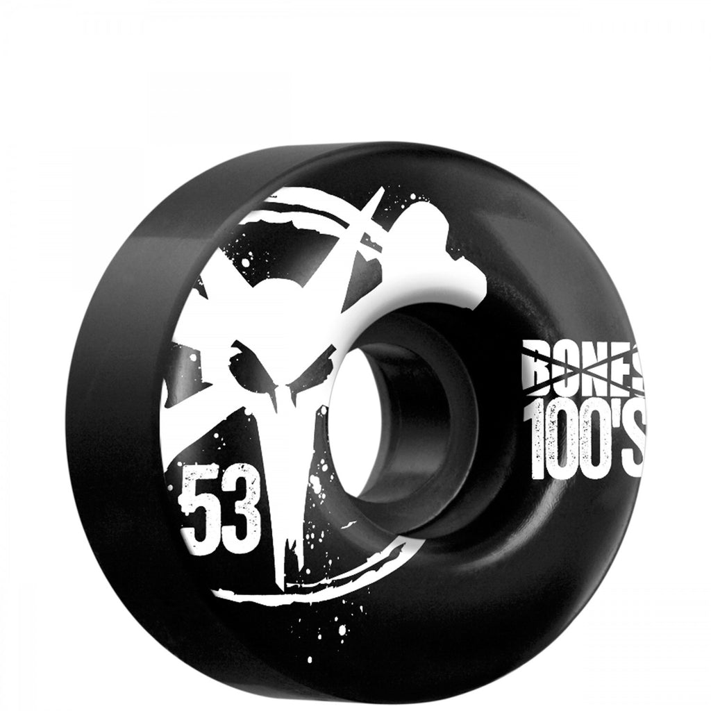 Bones O.G. 100's Skateboard Wheels 53mm - Black (Set of 4)