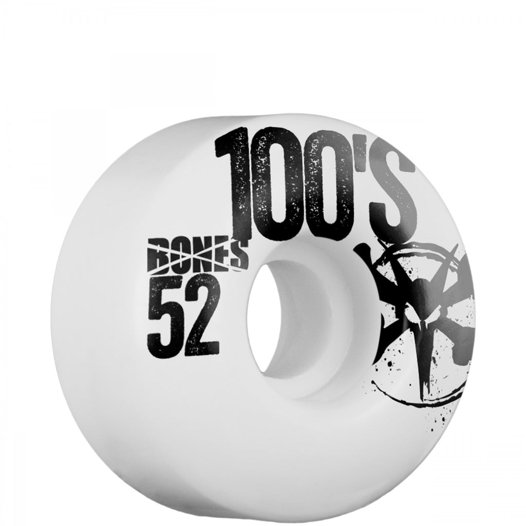 Bones O.G. 100's Skateboard Wheels 52mm - White (Set of 4)