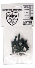 Khiro Hardcore Phillips Bolts Flathead Skateboard Mounting Hardware - 1 1/4""