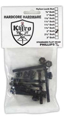 Khiro Hardcore Phillips Bolts Flathead Skateboard Mounting Hardware - 2""