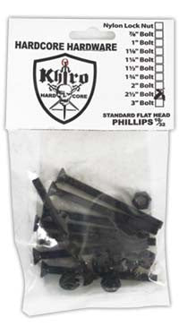 Khiro Hardcore Phillips Bolts Trusshead Skateboard Mounting Hardware - 2 1/2""