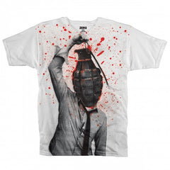 Zero Grenade Attack S/S Mens T-Shirt - White - Large