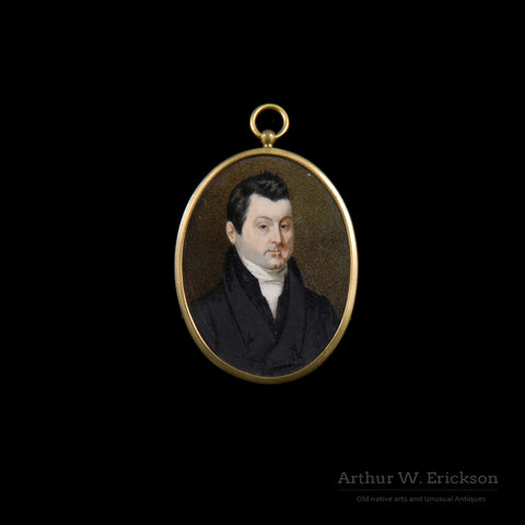 Pair of Miniature Portraits - Arthur W. Erickson - 3