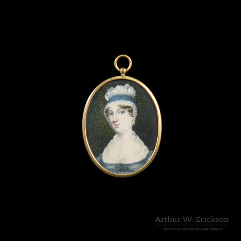 Pair of Miniature Portraits - Arthur W. Erickson - 2