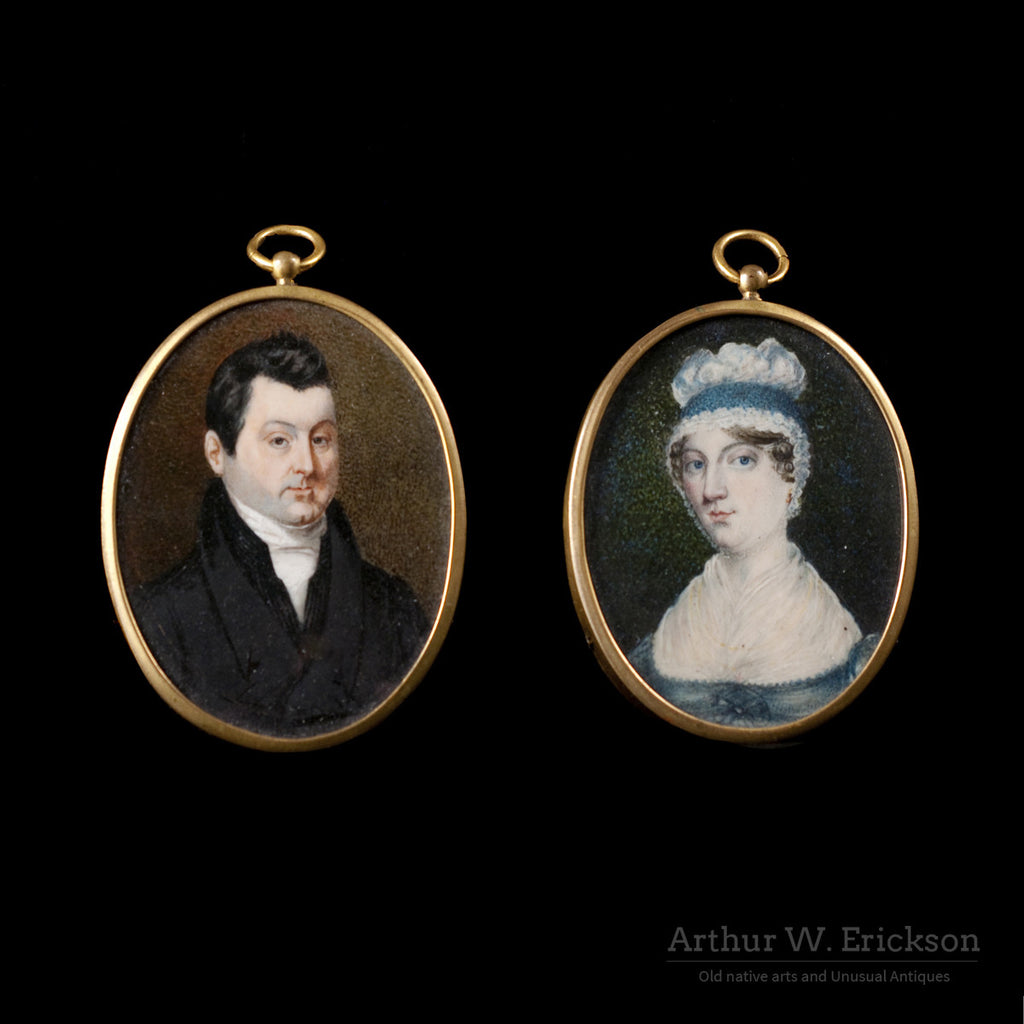 Pair of Miniature Portraits - Arthur W. Erickson - 1