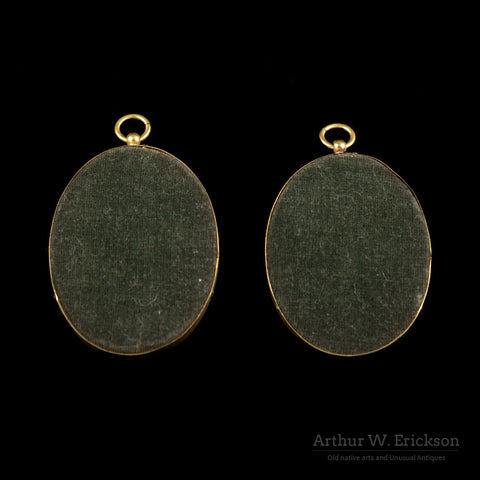 Pair of Miniature Portraits - Arthur W. Erickson - 4