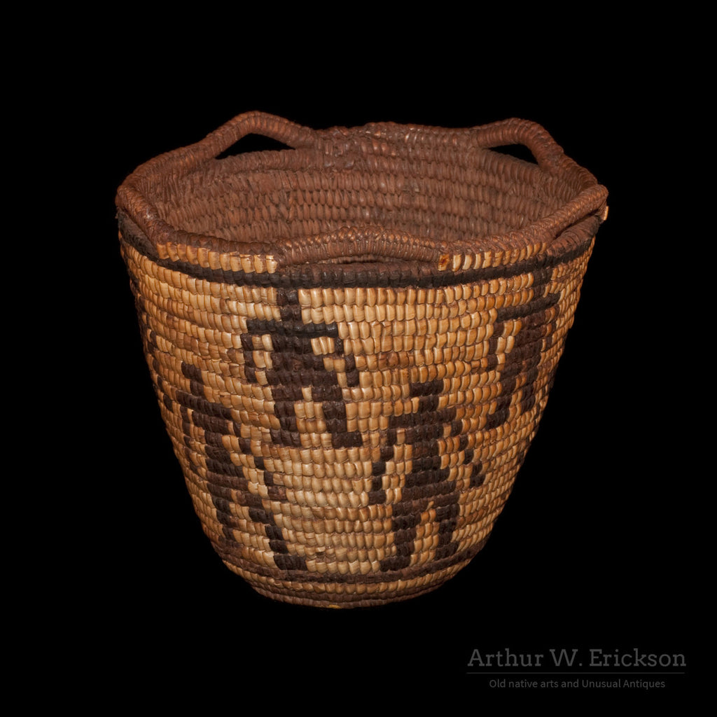 Figured Fully Imbricated Klickitat Basket - Arthur W. Erickson - 1