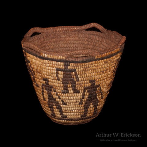Figured Fully Imbricated Klickitat Basket - Arthur W. Erickson - 2