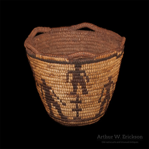 Figured Fully Imbricated Klickitat Basket - Arthur W. Erickson - 3