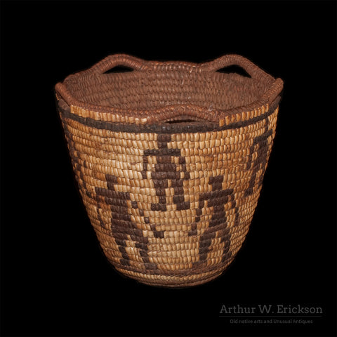 Figured Fully Imbricated Klickitat Basket - Arthur W. Erickson - 4