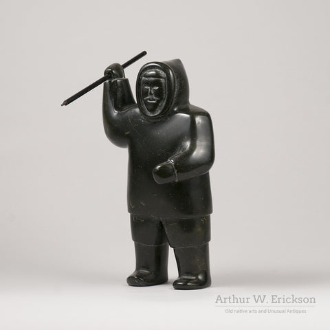 Inuit Soapstone Carving of a Hunter
