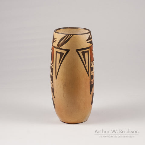 Hopi Tall Vase with Bird Figure - Arthur W. Erickson - 2