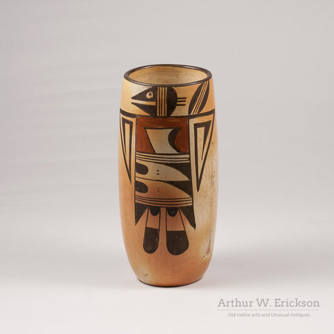 Hopi Tall Vase with Bird Figure - Arthur W. Erickson - 3