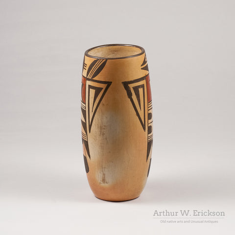 Hopi Tall Vase with Bird Figure - Arthur W. Erickson - 4