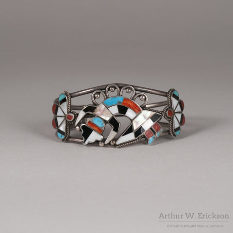 Zuni Rainbow Dancer Inlay Bracelet