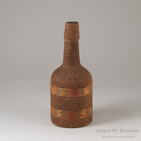 Tlingit Basketry Covered Bottle - Arthur W. Erickson - 1