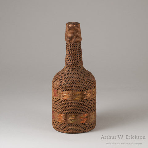 Tlingit Basketry Covered Bottle - Arthur W. Erickson - 4