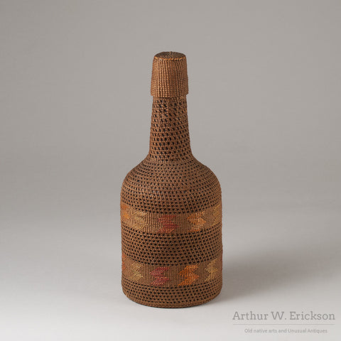 Tlingit Basketry Covered Bottle - Arthur W. Erickson - 5