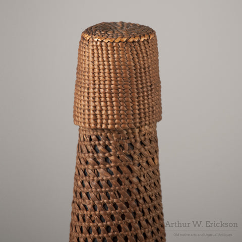 Tlingit Basketry Covered Bottle - Arthur W. Erickson - 10