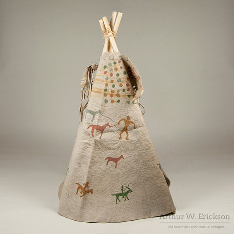 Children's Wool  Felt Teepee With Painted Figures