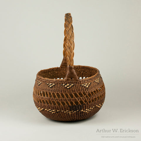 Siletz Basket with Double Handle