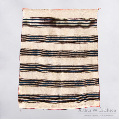 Hopi Striped Blanket with Indigo