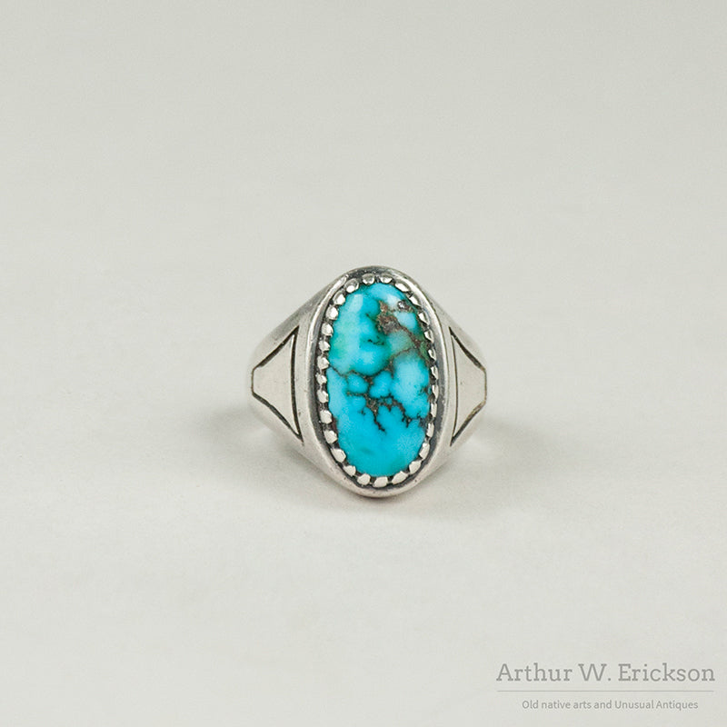 Turquoise and Sterling Silver Ring by Julian Lovato