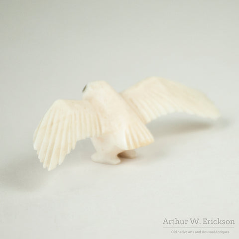 Eskimo Ivory Owl with Extended Wings