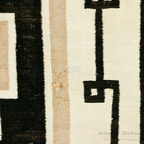 90 Year old Two Grey Hills Navajo Rug