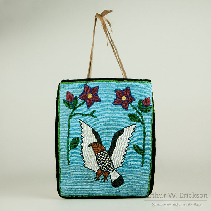Plateau Beaded Flat Bag with Eagle