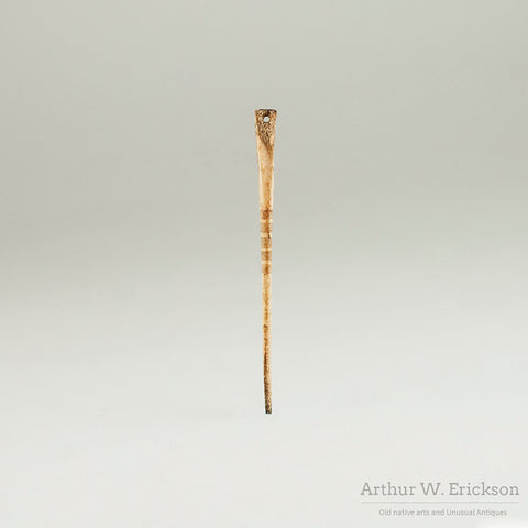 19th C Decorated Bone Awl