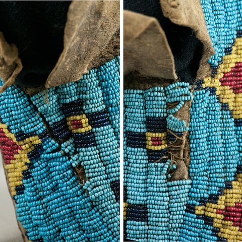 19th C Sioux Beaded Moccasins