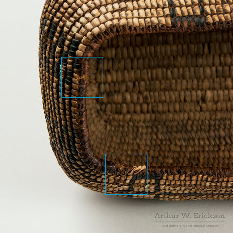 Cowiltz Fully Imbricated  Oval Basket