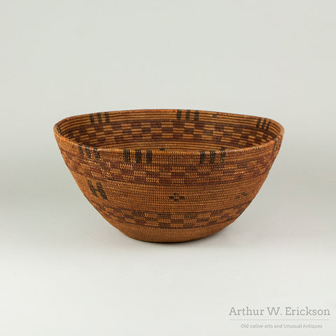Tubatulabal 19th C Coiled Cooking Basket