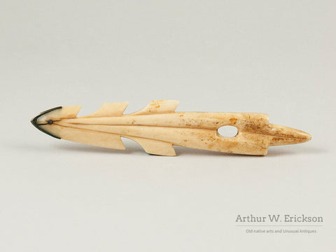 Eskimo Walrus Ivory Harpoon Head