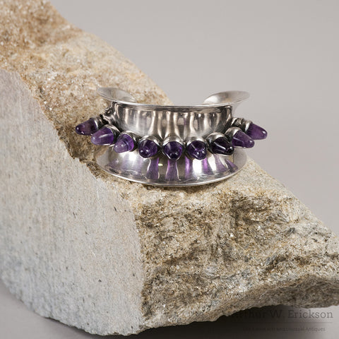 Antonio Pineda Floating Mount Amethyst Bracelet