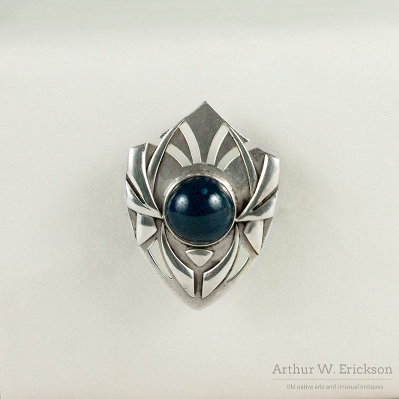 Art Silver Shop Shield Brooch