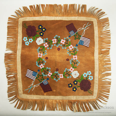 Athabaskan Beaded Pillow Top